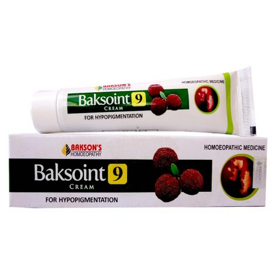 Bakson Baksoint 9 Cream For Hypopigmentation Of Skin Buy Online Homeopathy Remedies Online