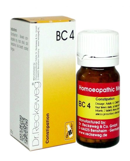 Reckeweg Biocombination Tablets BC4, Homeopathy for Constipation
